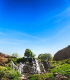 Waterfall with blue sky Royalty Free Stock Photo