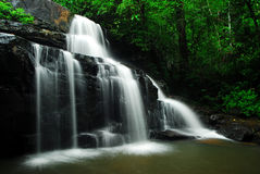Waterfall and blue stream. In the forest Thailand royalty free stock photos