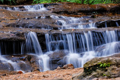 Waterfall and blue stream in the forest. On Blue Mountains National Park Australia UNESCO, Australia Stock Photos