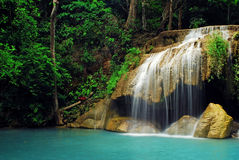 Waterfall. With blue stream in the nature Thailand forest Stock Image