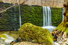 Waterfall and blue water on Crazy Mary River, Belasitsa Mountain, Bulgaria Stock Image