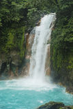 Waterfall. Blue water from the Rio Celeste in Costa Rica Stock Photos
