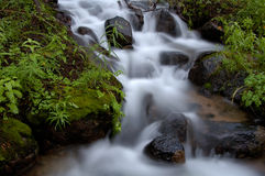 Waterfall Blur. A timed exposure of a mountain waterfall in the Eastern Sierras of California Stock Photography