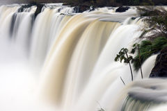 Waterfall with blurred motion Royalty Free Stock Photography