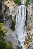 Waterfall Boka in Slovenia Royalty Free Stock Images