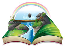 Waterfall book Stock Images