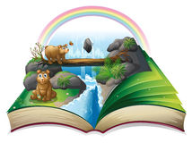 Waterfall book Royalty Free Stock Photography