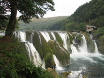 Waterfall  in Bosnia and Herzegovina. Waterfall, cascade, landscape Royalty Free Stock Photography