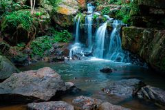 Waterfall the botanical garden in the National Park of Phong Nha Ke Bang, Vietnam. royalty free stock photo
