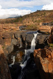Waterfall at Bourke's Luck Potholes. In the Blyde River Canyon (the third biggest canyon in the world Stock Photos