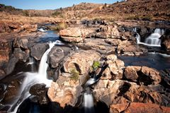 Waterfall at Bourke's Luck Potholes Royalty Free Stock Photography