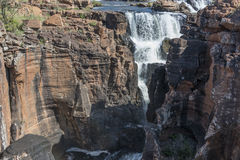 Waterfall at the bourkes potholes in south africa Stock Images