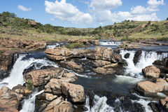 Waterfall at the bourkes potholes in south africa Royalty Free Stock Photo