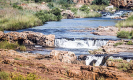 Waterfall at the bourkes potholes in south africa Stock Photos