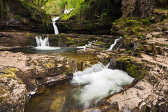 Waterfall in the Brecon Beacons Royalty Free Stock Image