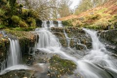 Waterfall in Brecon Beacons Stock Image