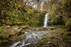 Waterfall in Brecon Beacons Stock Photography