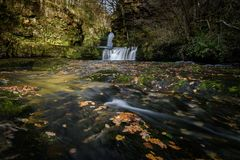 Waterfall in Brecon Beacons Royalty Free Stock Images