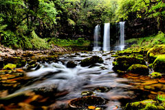 Waterfall Brecon Beacons national park, Wales UK Stock Images