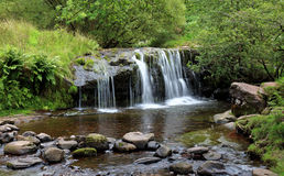 Waterfall in the Brecon Beacons in Wales Royalty Free Stock Photography