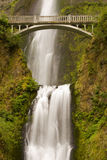 Waterfall with bridge Royalty Free Stock Photos
