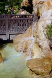 Waterfall bridge Royalty Free Stock Photo