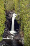 Waterfall on Brule river Stock Image