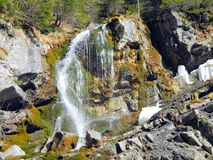 Waterfall. In Bucegi  Mountains Romania Royalty Free Stock Images
