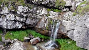 Waterfall in Bucegi Mountains Romania