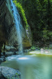 Waterfall Buderim Portrait Serenity Galls. Serenity Falls, Rain Forest, flowing Water fall, Waterfall, Rainforest, creek, Long exposure, Buderim Sunshine Coast Stock Photo