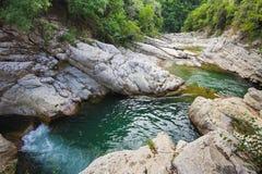 Waterfall on the Burano river Stock Photo
