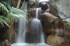 Waterfall at Busch Gardens Royalty Free Stock Image