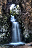 Waterfall. From Buttes-chaumond parc in Paris Royalty Free Stock Photo