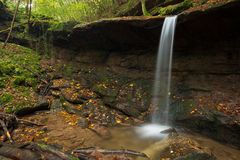 Waterfall Butzerbachtal during fall in the Eifel. Stock Image
