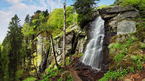 Waterfall Bystre in Polana region, Slovakia Stock Photography