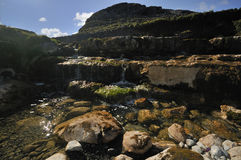 Waterfall in Caher Valley. Near Fanor, The Burren Stock Images
