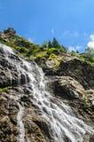 The waterfall called Balea on the Transfagarasan road from Fagaras mountains.  stock photography