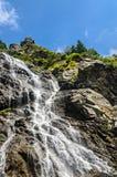 The waterfall called Balea on the Transfagarasan road from Fagaras mountains.  stock image