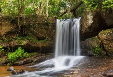 Waterfall in Cambodia Stock Image