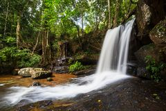 Waterfall in Cambodia. Waterfall Kbal Spean in Cambodia Royalty Free Stock Photos