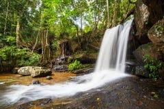 Waterfall in Cambodia Stock Image