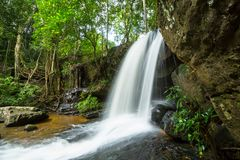 Waterfall in Cambodia Royalty Free Stock Photography