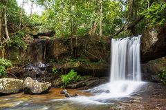 Waterfall in Cambodia Stock Photography