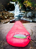 Waterfall Camping Stock Images