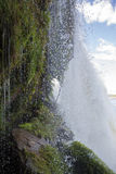 Waterfall in the Canaima Lagoon, Venezuela Stock Photo