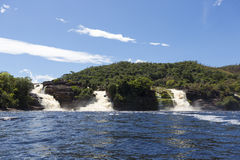 Waterfall in the Canaima Lagoon, Venezuela Stock Image