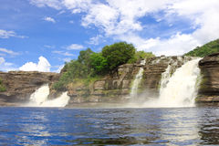 Waterfall at Canaima National Park Stock Photos