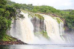 Waterfall at Canaima National Park Stock Photography