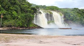Waterfall at Canaima National Park Stock Image