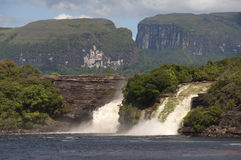 Waterfall at Canaima, Venezuela royalty free stock photos